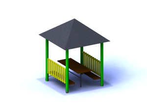 1-C Gazebo with a pyramid roof
